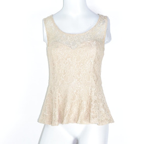 Forever 21 Blusa Beige Xs