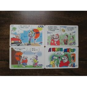 Lote Com 12 Cartões Telefônicos Antigos + 3 Pedras Ametista