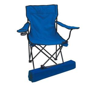 Cadeira Dobrável Pesca Camping Praia Poliester Porta Copos