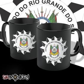 Caneca Polícia Civil Do Rio Grande Do Sul Total Black