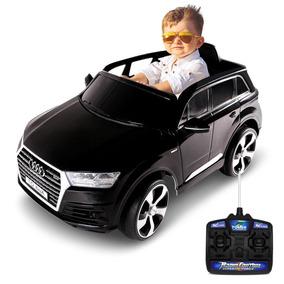 Carro Infantil Eletrico Controle Remoto Audi Q7 Preto 12v