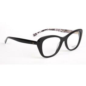 9ac7a83e5fb3d Armação Oculos Grau Ana Hickmann Ah6258 A01 Preto Brilho