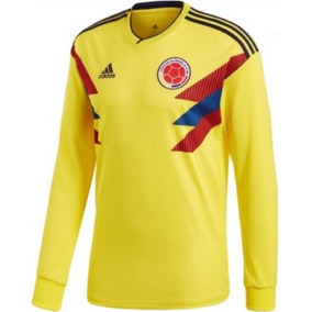 Jersey Colombia Manga Larga 2018 Local Mundial Rusia 5534641b0715b