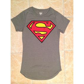Superman Playera Dc Dama Talla Xs, S Y M Original