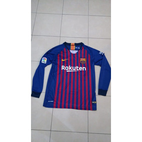 Playera Jersey Barcelona Manga Larga Local. Envio Incluido. 241a67a17a4