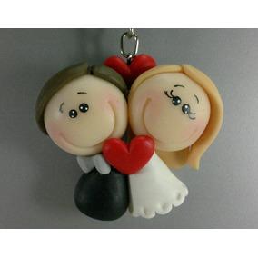 Lembrancinhas Casamento Chaveiro Noivinhos Em Biscuit