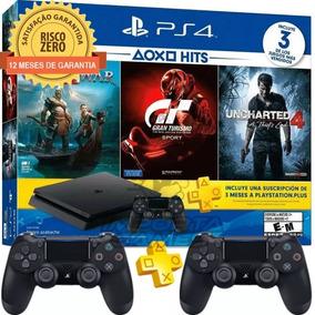 Ps4 Slim 1tb Hdr Playstation4 +3jogos+psn+controle Extra!!