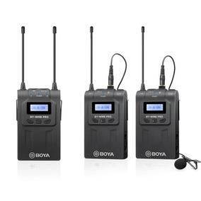 By-wm8 Prok2 Sistema De Microfone Sem Fio De Dois Canais Uhf