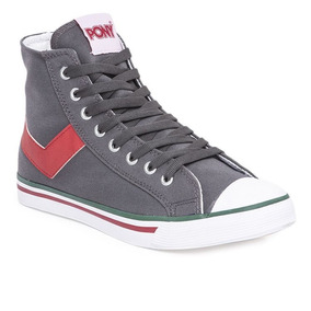 Zapatillas Botitas Pony Shooter Hi Cvs Gris/rojo