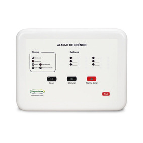 Central Alarme De Incêndio 12v - 6 Setores Segurimax C/bater