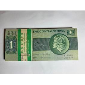 100 Cédulas 1 Cruzeiro Sequenciais - Flor De Estampa