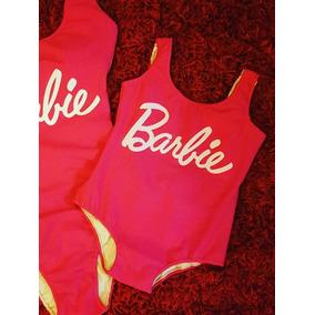 Traje De Baño Barbie Infantil