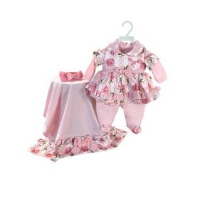Vestidinho Rn Com Bordados Em Rococo - Roupas de Bebê no Mercado ... e129ee6fad9