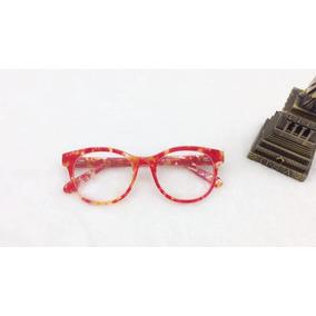 60d7f8084defc Armação Óculos De Grau Fem Geek Redondo M Promoção A053