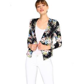 Blazer Floral Espalda Crochet
