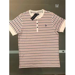 Camiseta Polo Ralph Lauren - Tamanho M (listras) 107d85e4660