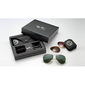 1557210bf8a84 Óculos De Sol Ray-Ban Aviator Com lente polarizada no Mercado Livre ...