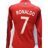 Camisa Polo Portugal Manga Longa Cr7 Cristiano Ronaldo 2018 27bebd9a7609a