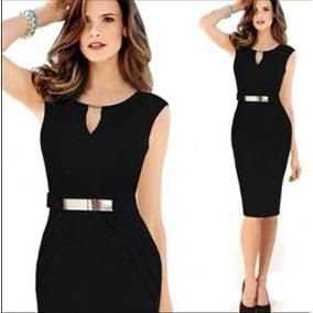 bfc8790cff905 Vestidos Negros Cortos Pegados - Ropa
