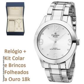 ccec17dbfcb Rel Gios Femininos Prata Champion Com Brinde - Relógios De Pulso no ...