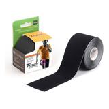 Bandagem Kinésio Elástica Funcional Adesiva Tmax Preto