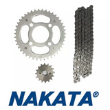 Kit Transmissão Relação Cg 150/fan/es/ks S/ Retentor Nakata