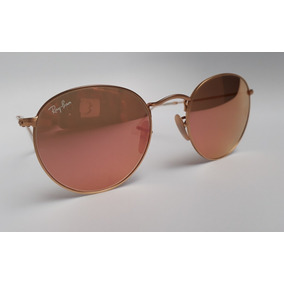 b92c3d2d80c41 Ray Ban Originales Rosa Metal Round Sunglasses Matte Gold C
