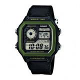 Reloj Casio World Time Chrono Alarm Ae1200whb1bvdf Original