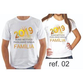 Camiseta Ano Novo Reveillon Virada Camisetas Manga Curta No