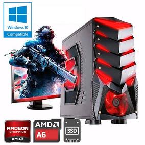 Pc Gamer Armada Amd A6 7400k A68 4gb Disco Ssd Kit Gabinete