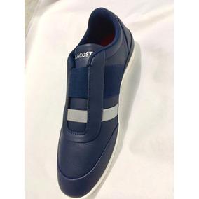 7f4ec7d762925 Tenis Lacoste Misano Elastic 318 1 U Azul Marino Caballero