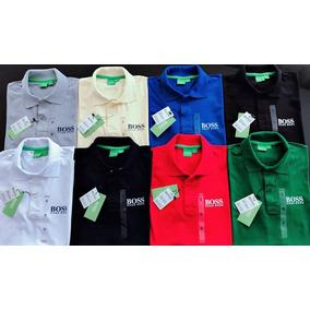 672f8dcc88e34 Kit 10 Camisas Polos Masculina Peruanas  hugo Boss