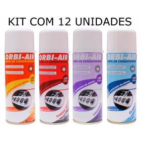 Kit 12 Spray Limpa Ar Condicionado Automotivo Orbi Air