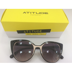 Oculo Sol Atitude Eyewear - Óculos no Mercado Livre Brasil 2d05d7d529