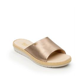 Calzado Mujer Dama Sandalia Flexi En Piel Color Plomo Comodo