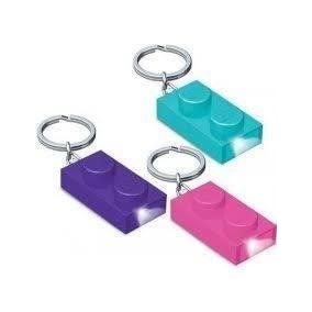Lego® Key Light Brick 1x2 Roxo,rosa E Azul Cada Unidade