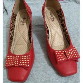 Sapato Miucha Vermelho Nº 40