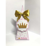 15 Caixa Pirâmide Personalizada Realeza Menina