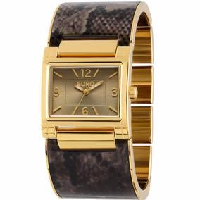 Relógio Feminino Euro Estilo Bracelete Dourado Eu2035lwy/4m