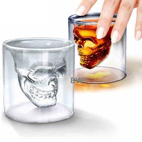 Jogo 4 Copo Shot Caveira P/ Dose Tequila Whisky 25ml Atacado