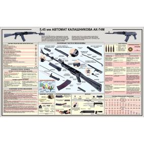 Poster Decorativo Ak-74m Ak74 51x36 Kraft Frete Fixo R$ 8,00
