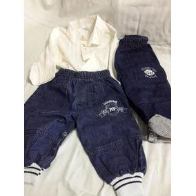 Bebe - Conjunto De Jeans Pañalero Y Camisa H m T. 6-9 Meses cfa637e45f4