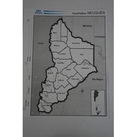 Mapa Político Provincia Neuquen Nº 3. X 10 Unidades