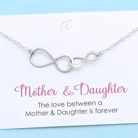Collar De Madre E Hija Plata Esterlina Doble Infinito Regal