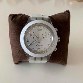 69f45a4a255 Relógio Swatch Irony Skull Feminino Branco Preto Caveira - Relógios ...