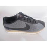 Tenis Nike Cortes Color Gris Negro Talla 23cm C851