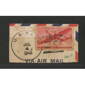 Raro Selo Estados Unidos Carimbo Us Navy 2° Guerra. França.