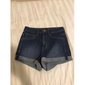 Shorts Jeans Cintura Alta Curto Forever 21 c3cb607a6ae5d