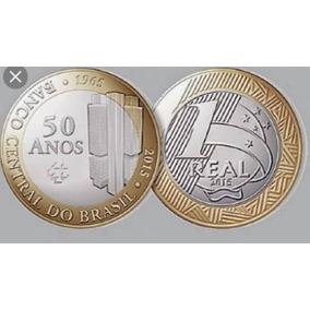 Isao 2 Moedas De 1 Real Dos 50 Anos Do Banco Do Brasil