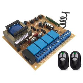 Kit 2 Controles + Central Dupla Portão Seg Ppa Rcg Rossi 433